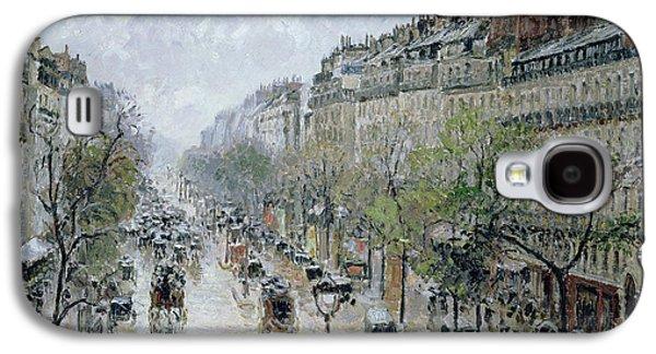 Boulevard Montmartre Galaxy S4 Case by Camille Pissarro