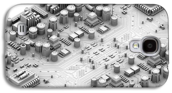 Circuit Board, Artwork Galaxy S4 Case by Pasieka
