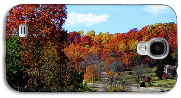 Fall Drive In Tennessee Galaxy S4 Case by EricaMaxine  Price