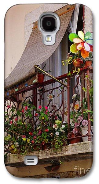 Flowery Balcony Galaxy S4 Case by Carlos Caetano