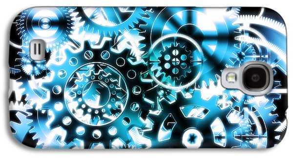 Gears Wheels Design  Galaxy S4 Case by Setsiri Silapasuwanchai