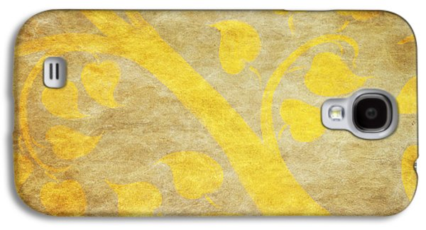 Golden Tree Pattern On Paper Galaxy S4 Case by Setsiri Silapasuwanchai