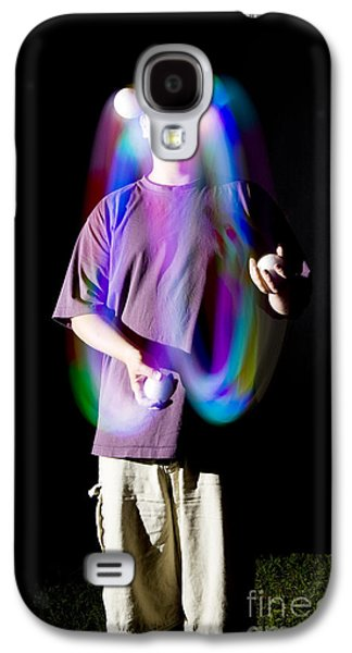 Juggling Light-up Balls Galaxy S4 Case by Ted Kinsman