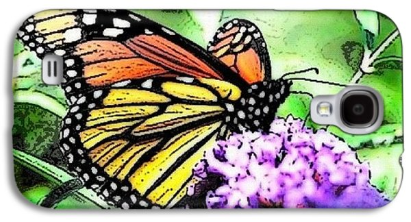 Orange Galaxy S4 Case - Monarch Butterfly by Edward Sobuta
