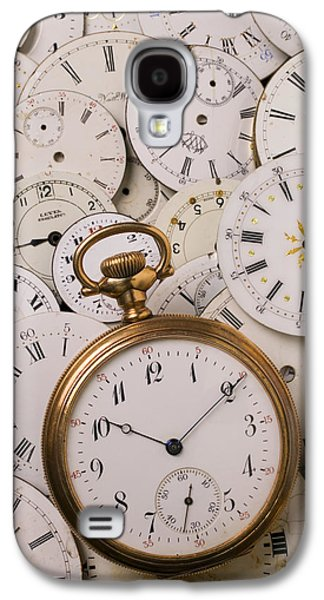 Old Pocket Watch On Dail Faces Galaxy S4 Case