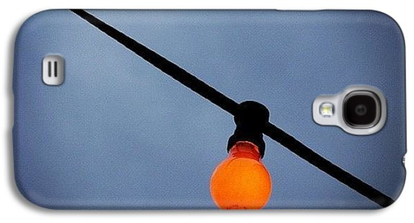 Sky Galaxy S4 Case - Orange Light Bulb by Matthias Hauser