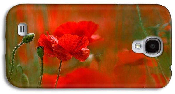 Poppy Flowers 02 Galaxy S4 Case by Nailia Schwarz