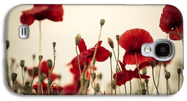 Poppy Flowers 03 Galaxy S4 Case by Nailia Schwarz