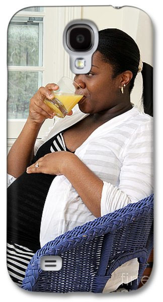 Pregnant Woman Drinking Orange Juice Galaxy S4 Case