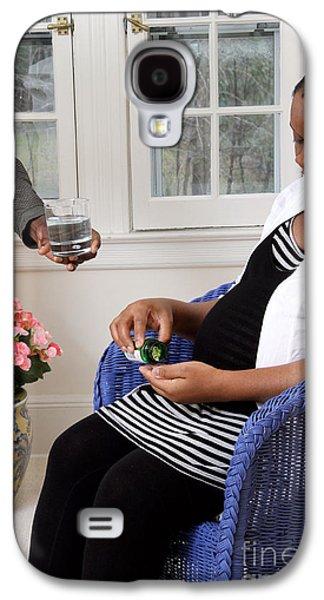 Pregnant Woman Taking Vitamins Galaxy S4 Case