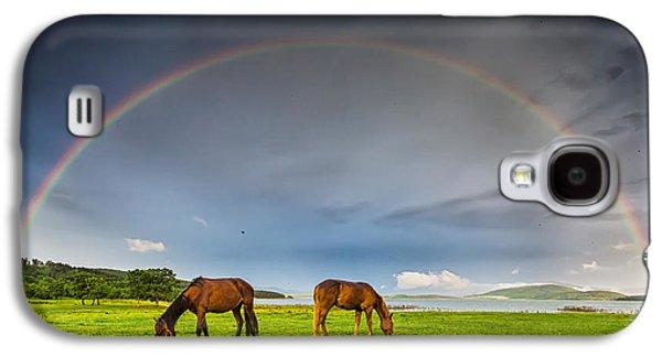 Rainbow Horses Galaxy S4 Case by Evgeni Dinev