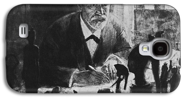 Sigmund Freud, Austrian Psychologist Galaxy S4 Case by Humanities & Social Sciences Librarynew York Public Library