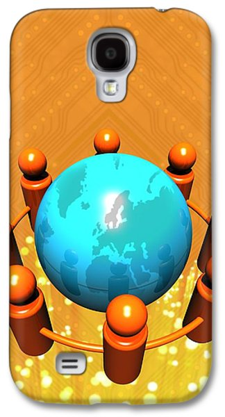 Social Networking, Conceptual Image Galaxy S4 Case by Victor Habbick Visions