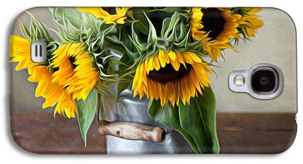 Sunflowers Galaxy S4 Case by Nailia Schwarz