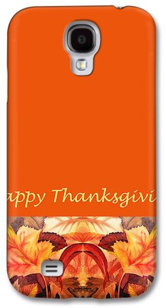 Thanksgiving Card Galaxy S4 Case by Irina Sztukowski