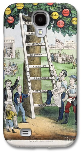 The Ladder Of Fortune Galaxy S4 Case by Currier and Ives