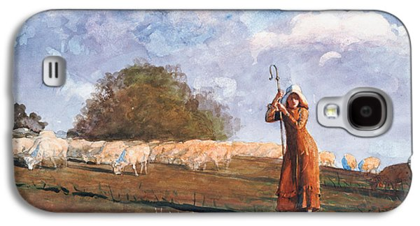 The Young Shepherdess Galaxy S4 Case by Winslow Homer
