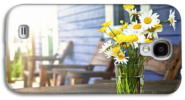 Wildflowers Bouquet At Cottage Galaxy S4 Case by Elena Elisseeva