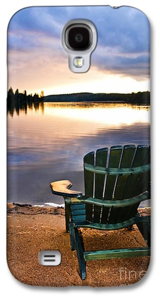 Wooden Chair At Sunset On Beach Galaxy S4 Case