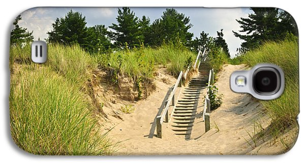Wooden Stairs Over Dunes At Beach Galaxy S4 Case by Elena Elisseeva