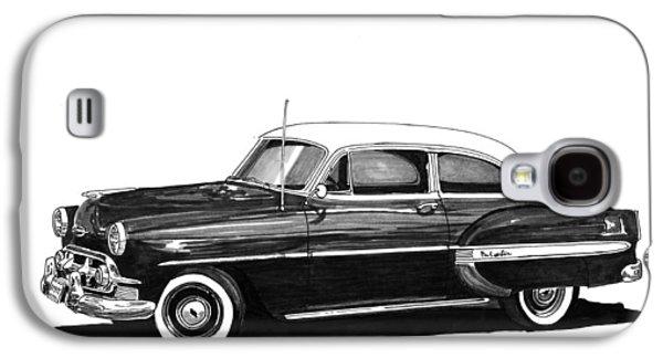 1953 Chevrolet Post 2 Dr Sedan Galaxy S4 Case by Jack Pumphrey