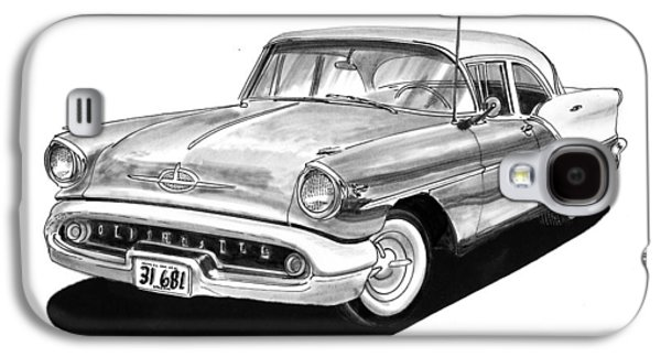 1957 Oldsmobile Super 88 Galaxy S4 Case by Jack Pumphrey
