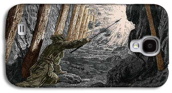 19th-century Coal Mining Galaxy S4 Case by Sheila Terry