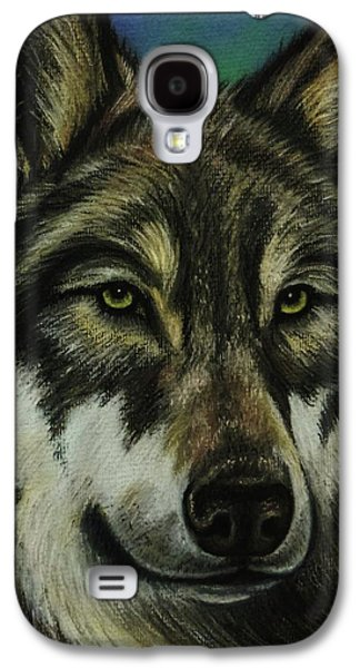 Blue Wolf Galaxy S4 Case by Lucy Deane