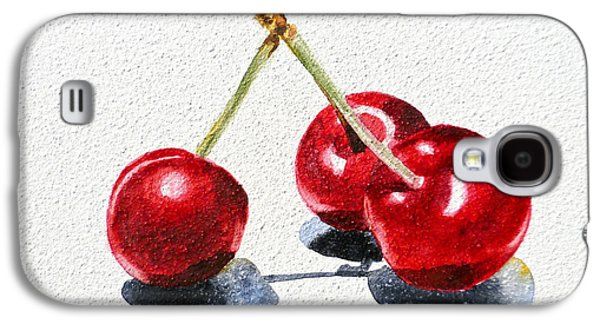 Cherries Galaxy S4 Case by Irina Sztukowski