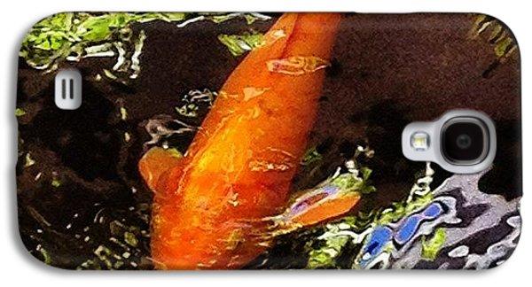 Orange Galaxy S4 Case - Koi by Darice Machel McGuire