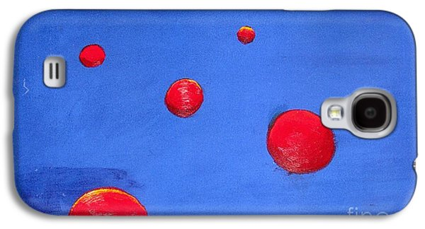 Galaxy S4 Case featuring the painting Orbs In Space 1 -- Crossing Paths by Rod Ismay