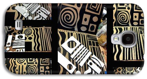 2012 Studio Play - Handmade Printing Plates Galaxy S4 Case by Angela L Walker