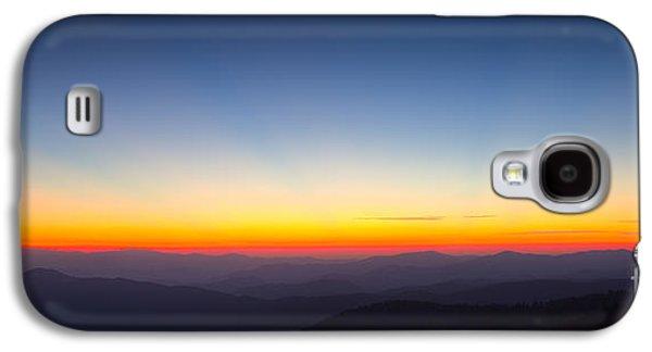 Great Smokie Mountains Sunset Galaxy S4 Case by Dustin K Ryan