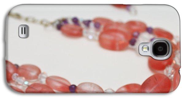3606 Cherry Quartz Triple Strand Necklace Galaxy S4 Case