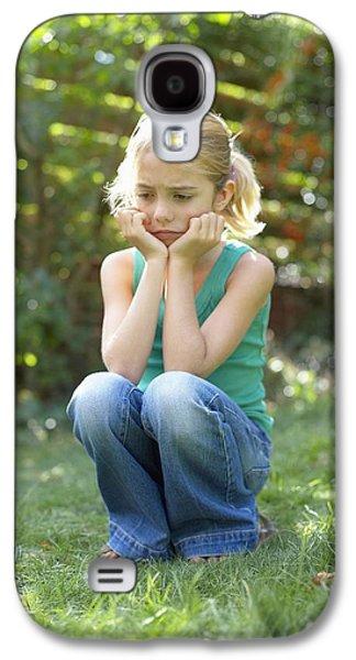 Unhappy Girl Galaxy S4 Case