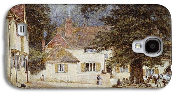 A Cart By A Village Inn Galaxy S4 Case by Helen Allingham