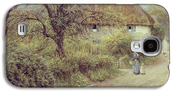 A Hill Farm Symondsbury Dorset Galaxy S4 Case by Helen Allingham