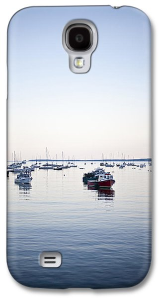A Large Group Of Boats Float In A Maine Galaxy S4 Case