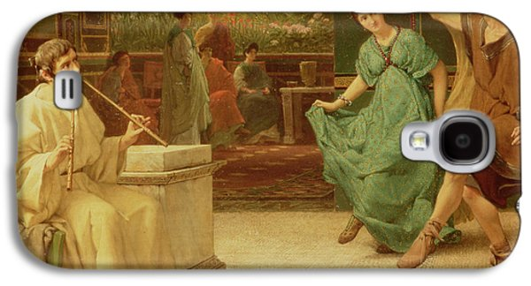 A Roman Dance Galaxy S4 Case by Sir Lawrence Alma-Tadema