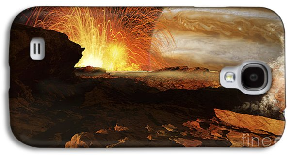 A Scene On Jupiters Moon, Io, The Most Galaxy S4 Case by Ron Miller