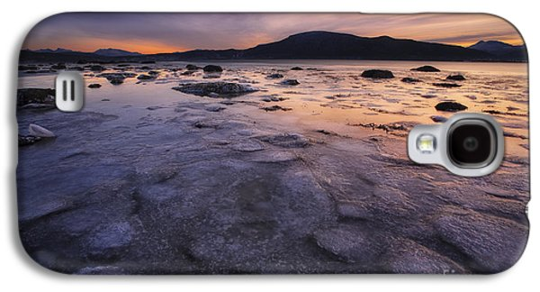 A Winter Sunset At Evenskjer In Troms Galaxy S4 Case