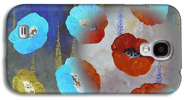 Abstract Colorful Poppies Galaxy S4 Case by Georgeta  Blanaru