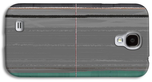 Abstract Grey And Green Galaxy S4 Case