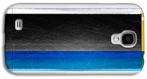 Abstract With Blue And Yellow  Galaxy S4 Case by Naxart Studio