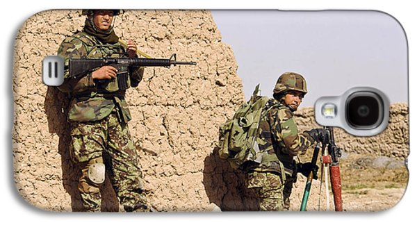 Afghan Soldiers Conduct A Dismounted Galaxy S4 Case by Stocktrek Images