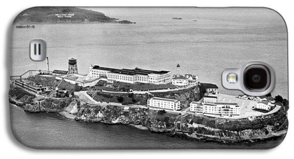 Alcatraz Island And Prison Galaxy S4 Case by Underwood Archives