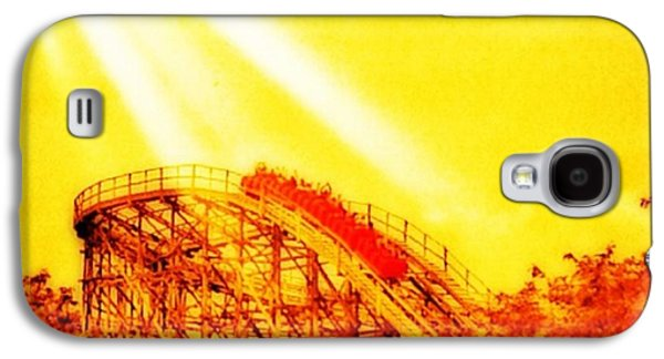 #amazing Shot Of A #rollercoaster At Galaxy S4 Case by Pete Michaud