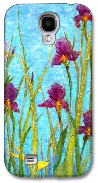 Among The Wild Irises Galaxy S4 Case by Carla Parris