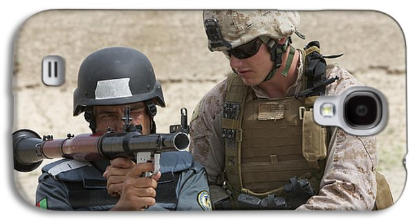 An Afghan Police Student Aiming A Rpg-7 Galaxy S4 Case by Terry Moore