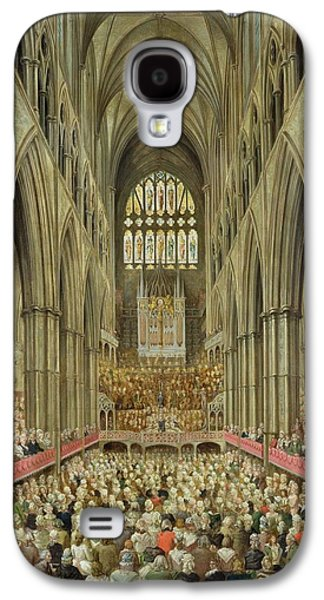 An Interior View Of Westminster Abbey On The Commemoration Of Handel's Centenary Galaxy S4 Case by Edward Edwards